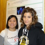 Nguyen Nguyen and Nicole Laniohan in front of their prize-winning poster.