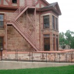 Arthur House after west porch restoration and installation of ADA ramp. Photo courtesy George Eckhardt.