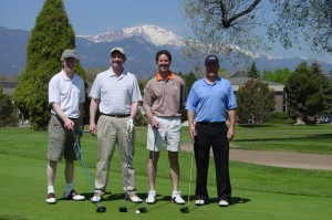 The winning golf team. Photo by Pam Butler.