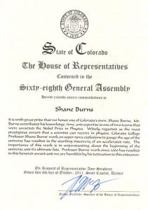 2011 Burns Commendation