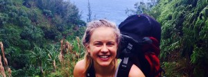 Vanessa Voller' 16 hiking the Na'Pali coast in Kaua'i