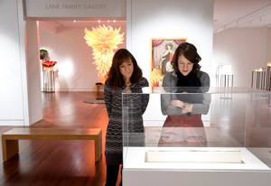 Jessica Hunter-Larsen, left, and Sharon Corwin tour the collection at the Colorado Springs Fine Arts Center.