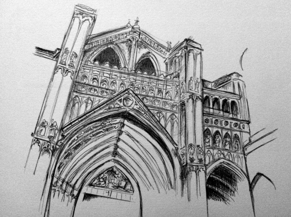 catedral de toledo sketch