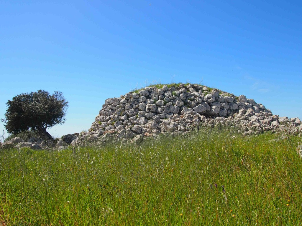 Another watchtower constructed by the indigenous inhabitants of Menorca, the Talayotic. This one is a part of a much larger archaeological site containing the intact foundations of several houses and temple structures.