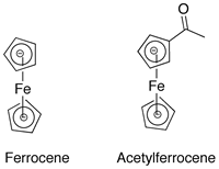 acetylation of ferrocene Friedel-crafts acylation in this lab you will be synthesizing acetyl ferrocene from ferrocene via a friedel-crafts acylation friedel-crafts acylation involves the addition of a keto group into an arene.