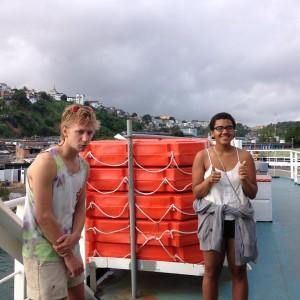 Author and Friend on the Ferry to Morro de São Paulo