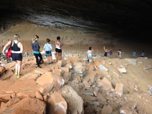 Colorado College Students Entering the Cave