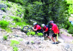 Robert Redwine '71 participated in the Adventure TEAM Challenge (formerly the Real Deal) in Vail, Colo. Rob took on the challenge with two disabled athletes. Teams were comprised of three able-bodied athletes and two people with disabilities, one of whom had to be non-ambulatory (a paraplegic athlete). Athletes participated in events on mountain bikes, in rafts, and on foot.
