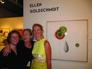 Members of the Class of '78 attended Ellen Goldschmidt's art gallery opening in Portland, Ore., in August. From left, Robin McQuay, Anne Reifenberg, and Ellen Goldschmidt.