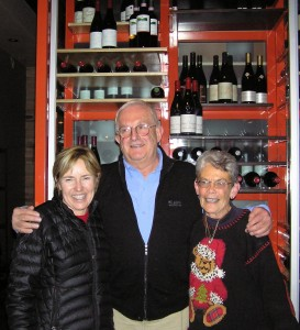It was amazing but true, reports Marcia Dentan Reed '64. Three CC graduates from three different years worked with the same volunteer group for the 2009 World Cup event at Beaver Creek, Colo. From left, Karen Shupe '71, Joe Macy '68, and Marcia united as members of a dedicated group of volunteers who were in charge of preparing equipment and the course for the prestigious race.
