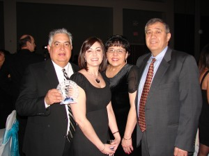 Tom Autobee '73 was joined by family members Andrea Autobee '01, Joyce Baca Anderson '75, and Pat Garcia '76 when he received the Professional of the Decade Award from the Pueblo Latino Chamber of Commerce in February 2009. In 2009 Tom also was inducted into the Pueblo East High School Hall of Fame and received the Marketing in Excellence Award from the U.S. Hispanic Chamber of Commerce.