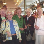 Five alumnae from the Class of 53 gathered at Pike Place Market in Seattle in September 2012 for their annual get-together. Left to right: Shirley Keay Campbell, Orinda, Calif.; Mary Crawford Rubens, Scarsdale, N.Y.; Artie Toll Kensinger, Colorado Springs, Colo.; Sally Rambeau Spoehr, St. Augustine, Fla.; and Sally Moffitt Kennedy, Mercer Island, Wash.