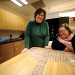 Associate Professor of Physics Kristine Lang and Associate Professor of Biology Phoebe Lostroh in the lab.