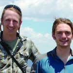 Brian Enquist '91, left, and Colby Sides '12 conducted research near Crested Butte, Colo., in the summer of 2011.