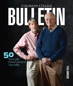 Colorado College Bulletin: December 2015 cover