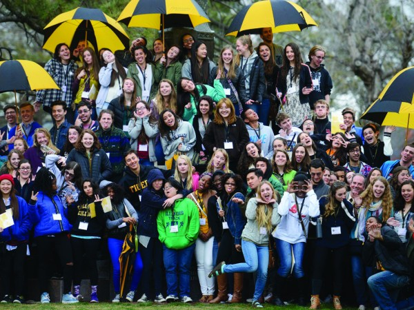 Admitted students from the Class of 2019  pose on campus during the Spring 2015 Admission Open House. To learn more about the CC Class of 2019, go to www.coloradocollege.edu/classof2019