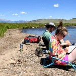 Brent Jacoby '20 and Claire Kendall spent a perfect Colorado day in July painting and drawing