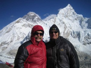 David Smith '70 (left) and Peter Nichols '70, spent a month trekking in Nepal's Everest region, where Peter has climbed numerous major peaks (including Ama Dablam in 2005) over the last couple of decades. Peter is a partner with a Denver-based water law firm.  David, who recently retired from an investment banking firm he co-founded in 1979 that focuses on multi-family affordable housing nationwide, is a b