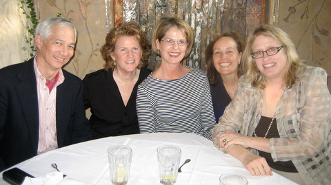 Classmates from the 1970s gathered in Pasadena, Calif., on New Year's Eve.  (From left), Torrey Sun '74, Robin McQuay '78, Katie King '78, Nancy Baxter '78, and Marjorie Thompson '78.