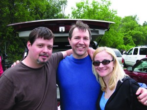 Will Corum '94, Kenny Crochet '90, and Missy Gorton Corum '95 met at the Alpine Valley Music Theater near Delavan, Wis., for a weekend of Dave Matthews Band concerts July 18 and 19. Kenny met Missy and Will through the DMB fan club and discovered their Colorado College ties after months of talking about the band.