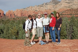 Friends from the Class of '79 gathered for a reunion in Sedona, Ariz., in October 2009; from left, Nancy Levit, Linda Snow Martin, Sue Sonnek Strater, Kathy Loeb, Deb Parks Palmisane, and Julie Edelstein Best.