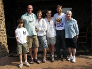 Jeffrey Blair '88 and family met Rob Leigh '87 and family in South Africa.