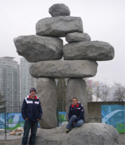 Charlie Paddock '09 and Brittney Moore '10 in Vancouver.