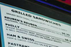 Reuben event menu