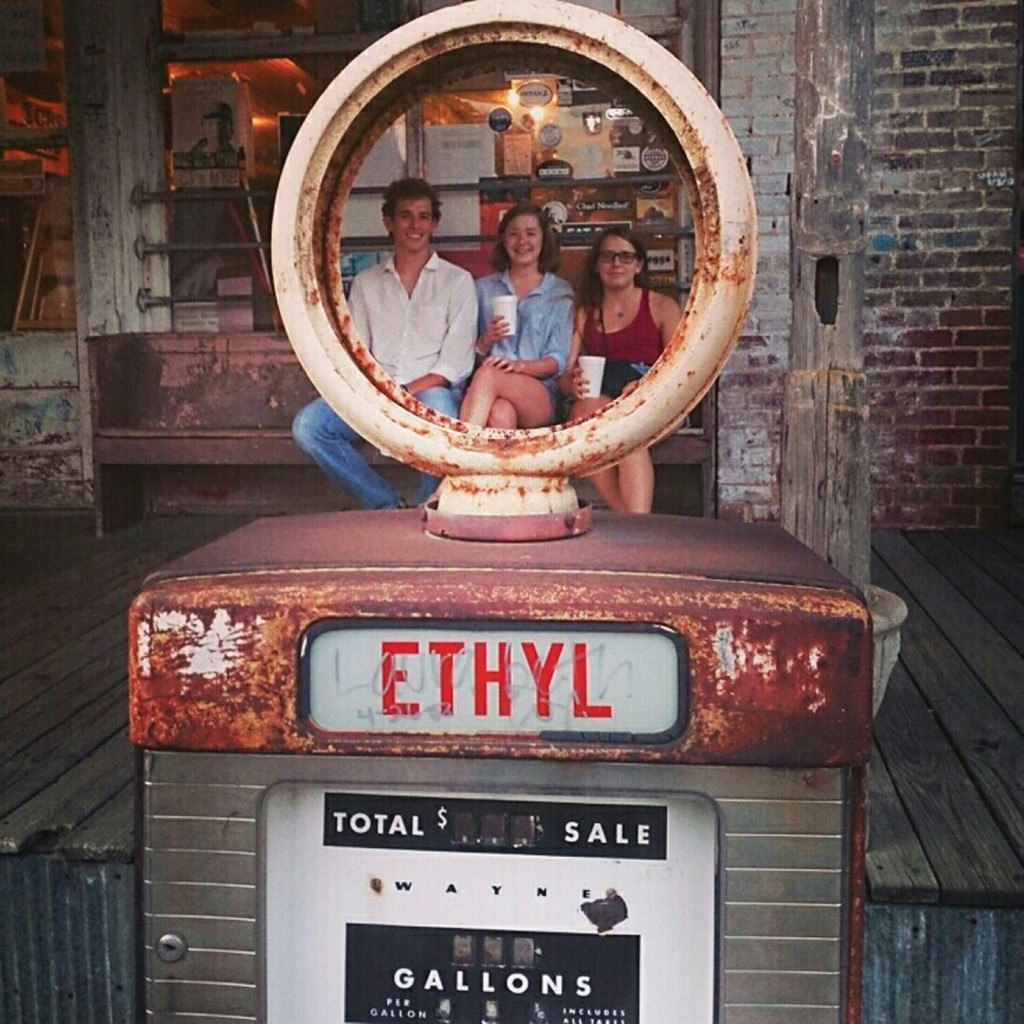 Students pose at Old Taylor Grocery outside Oxford, Miss., the model for Frenchman's Bend, a township that figures in several William Faulkner novels. Off-site classes like this will be easier for faculty to plan and execute with the services at the Center for Immersive Learning and Engaged Teaching.