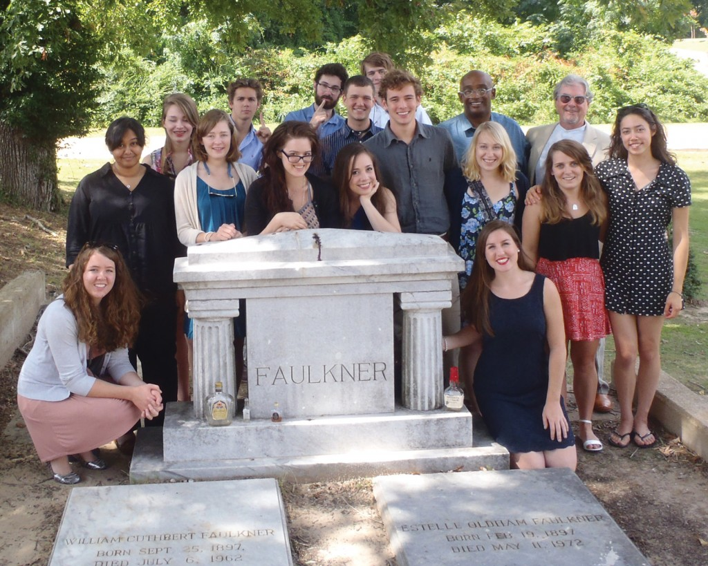 """Students in Professor Barry Sarchett's English 381: Faulkner class travel to Oxford, Miss., to visit sites important to William Faulkner and allow the great American novelist to """"come to life."""""""