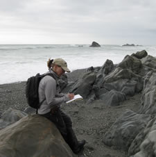 Field work on West Coast of New Zealand