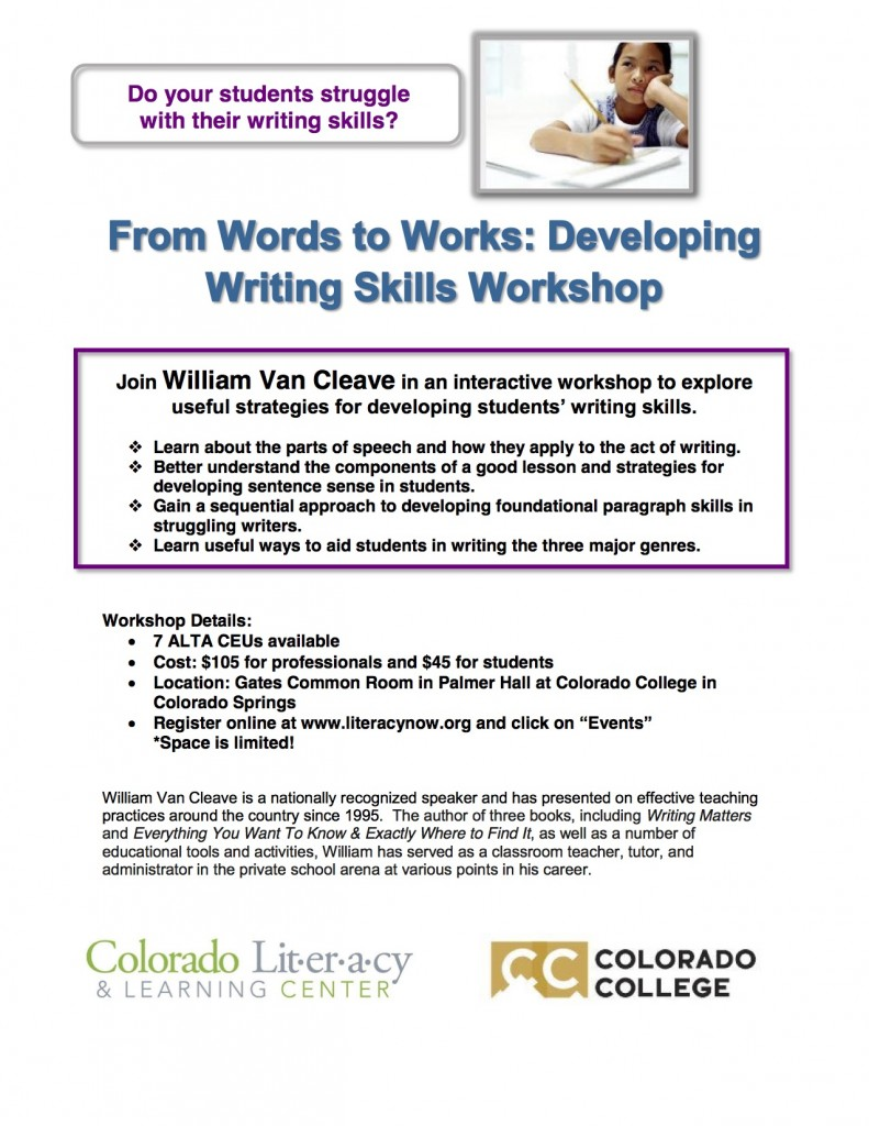 March 11 writing workshop at Gates Common Room