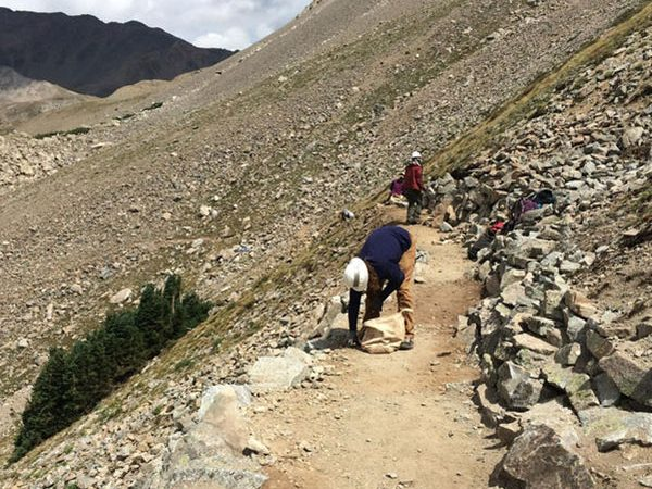 This photo from Mount Columbia comes from Cronin's 2016 piece on 14er maintenance.