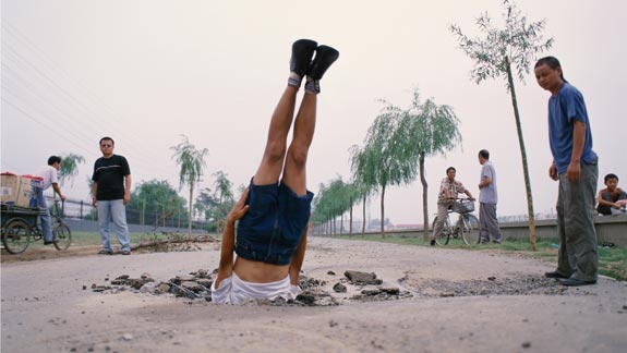 Li Wei, Li Wei Falls to the Earth, Photograph