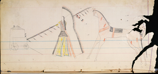 Reproduced from the Cheyenne Dog Soldiers Ledger Book, courtesy of the Colorado Historical Society.