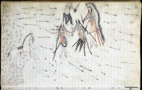 Reproduced from Little Finger Nail's Ledger Book, courtesy of the American Museum of Natural History