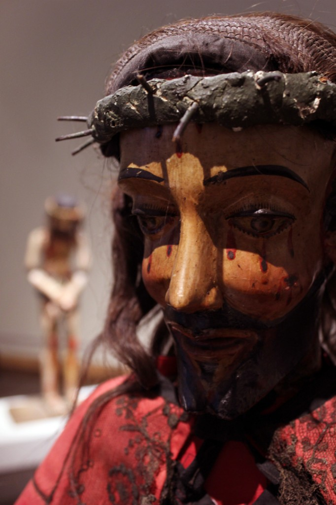 "Detail of Jesus Nazarene, Bulto, 50""x25""x13"", Collection of the Colorado Springs Fine Arts Center, TM1605"