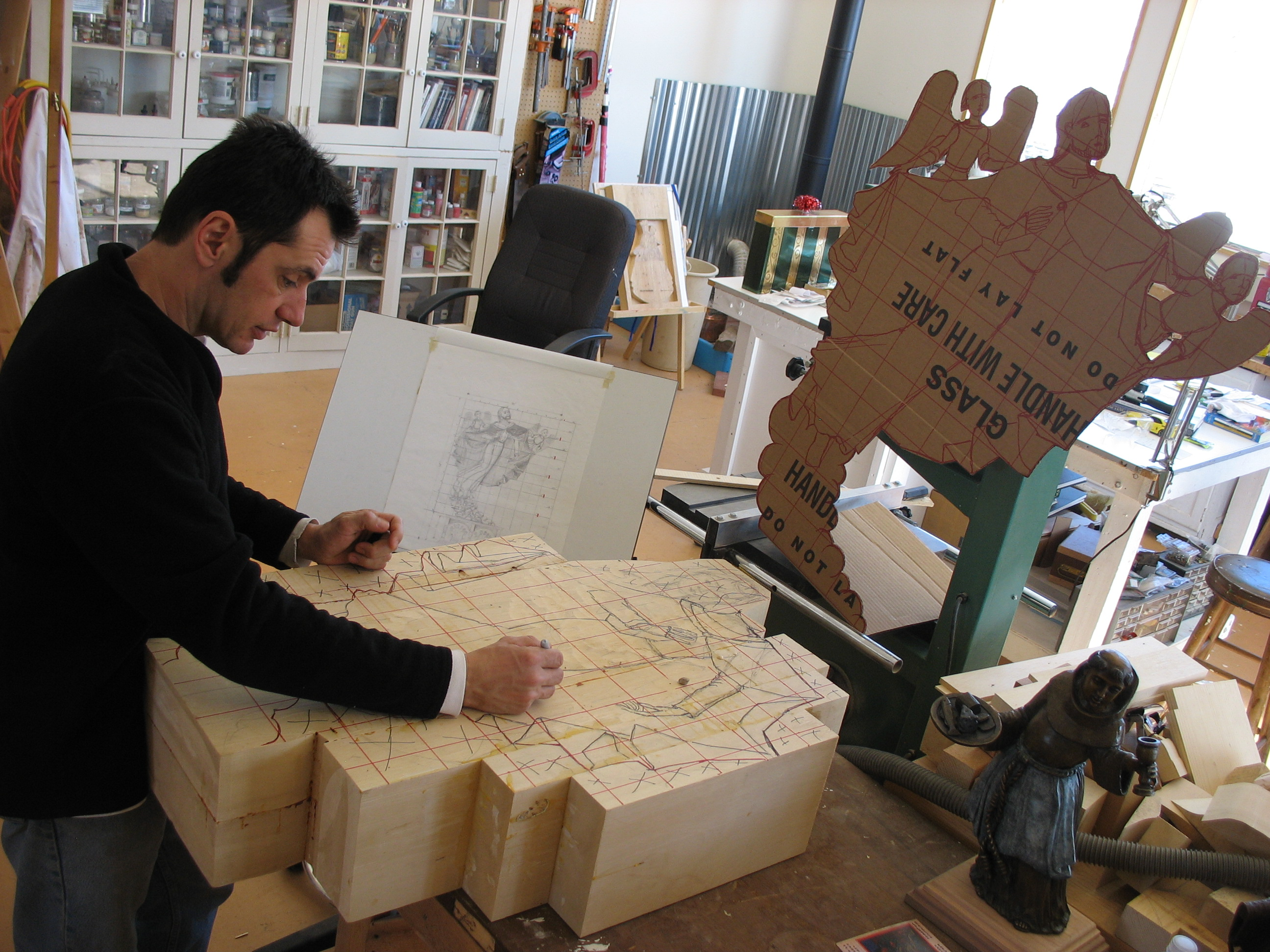 Gustavo Victor Goler in his studio, Santa Fe, NM.