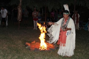 Caleen Sisk blessing the Sacred Fire