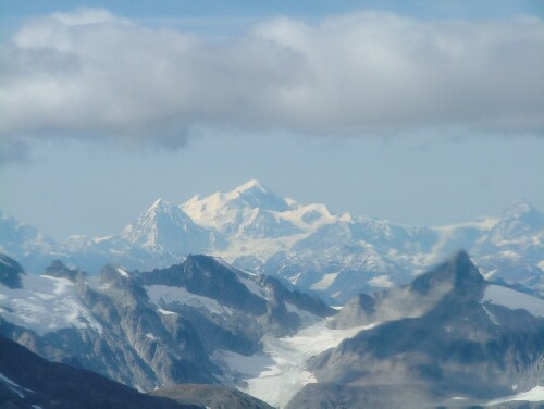 Mt. Fairweather in Glacier Bay, Alaska. This is one of the world's tallest coastal mountains and a sacred place for the Hoonah Tlingit