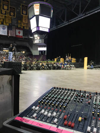 Commencement view from the sound board.