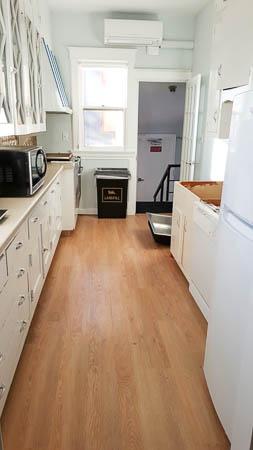 First floor galley kitchen.
