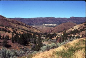Clarno near with John Day and Columbia River behind