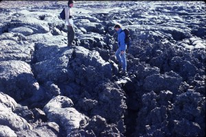 Craters of the Moon aa and pahoehoe