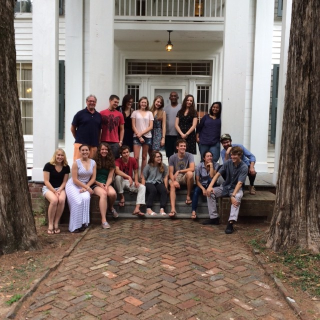 The group at Faulkner's home.
