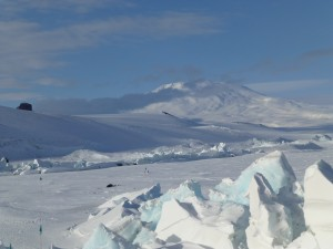 Castle Rock in the distance, with Mt. Erebus to the right.