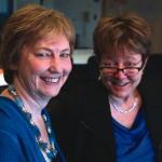 Jane Hilberry, left; Re Evitt, right