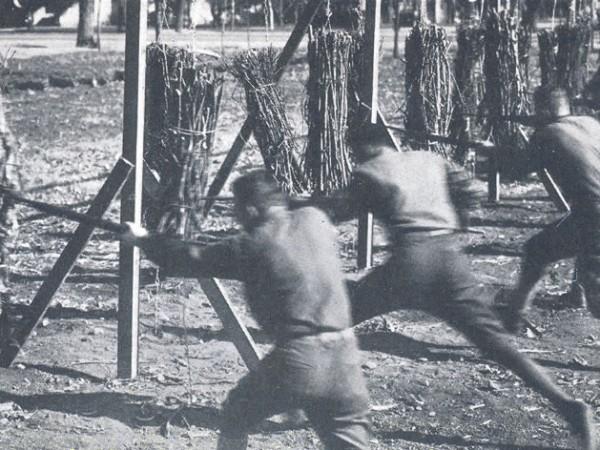 WWI bayonet drill 1919
