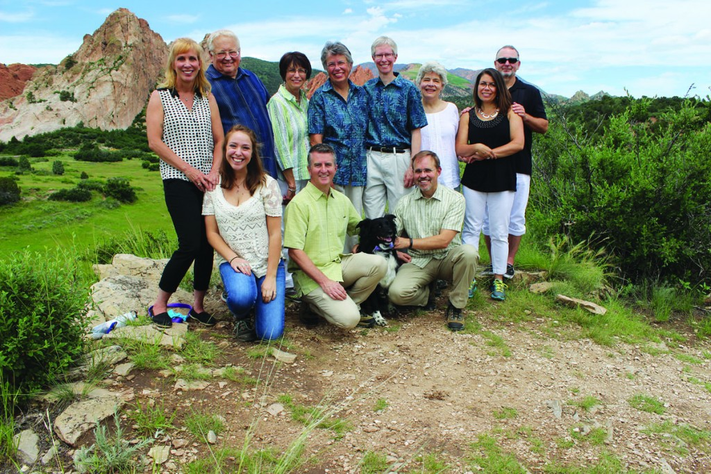 Kathy French and Judy De Groot, pictured here with the wedding party, were married July 10 at Colorado Springs' Garden of the Gods. The couple had been together for 18 years before the U.S. Supreme Court decision bringing marriage equality to all states.