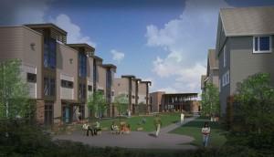 Rendering of East Campus housing